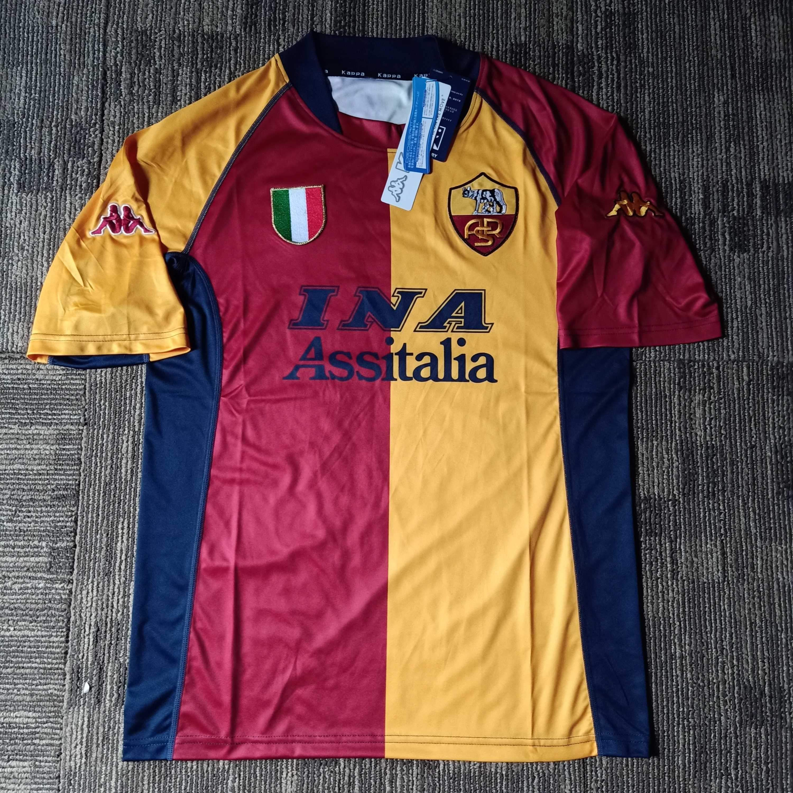 2001 02 As Roma Home Shirt In 2020 As Roma Shirts Vintage Jerseys