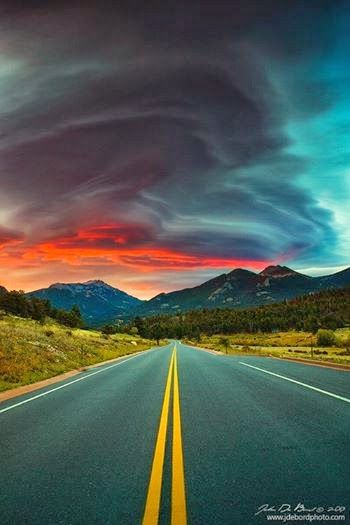 What an Adventure...would really enjoy this journey! http://www.awesomehealthandfitness.com  #roads #clouds #sunset