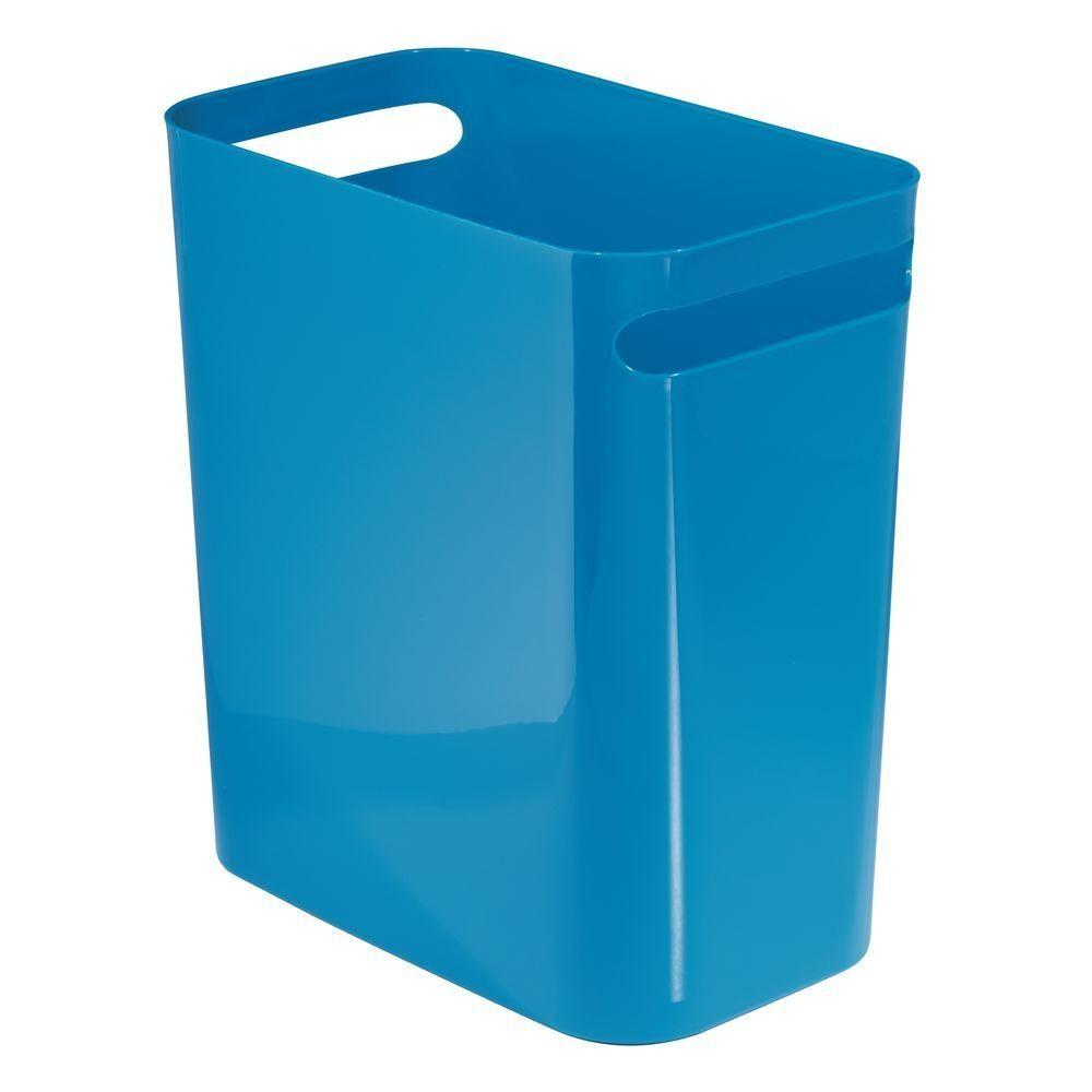 Small Plastic Slim Trash Can Garbage Bin 12 High In Light Purple