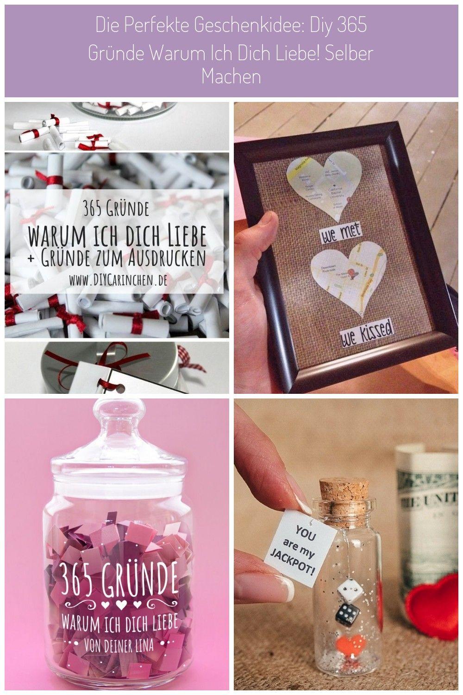 Liebe Diy Geschenk Im Glas 365 Grunde Warum Ich Dich Liebe