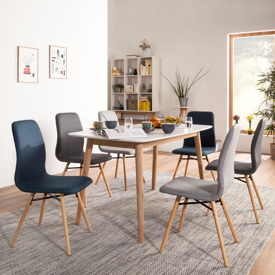 Home küche einfache design bilder polsterstuhl daleras erset  webstoff  buche massiv  hellgrau
