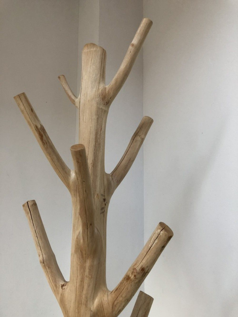 Wandgarderobe Baumstamm Standgarderobe Aus Massivholz Hohe 200
