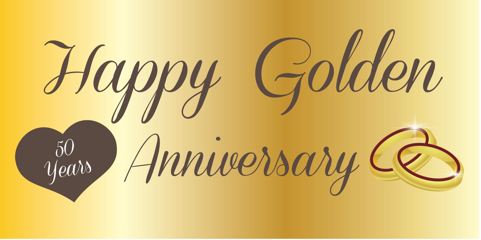 Anniversary Banner Golden 50th Wedding Anniversary Wishes 50th Year Wedding Anniversary Wedding Anniversary Wishes
