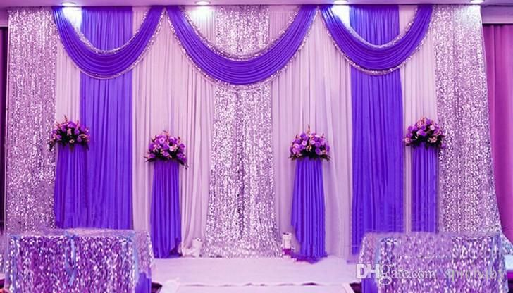 High Quality Wedding Backdrop Curtain Sequined Decorations 6m 3m Cloth Background Scene Decor Supplies Pictures