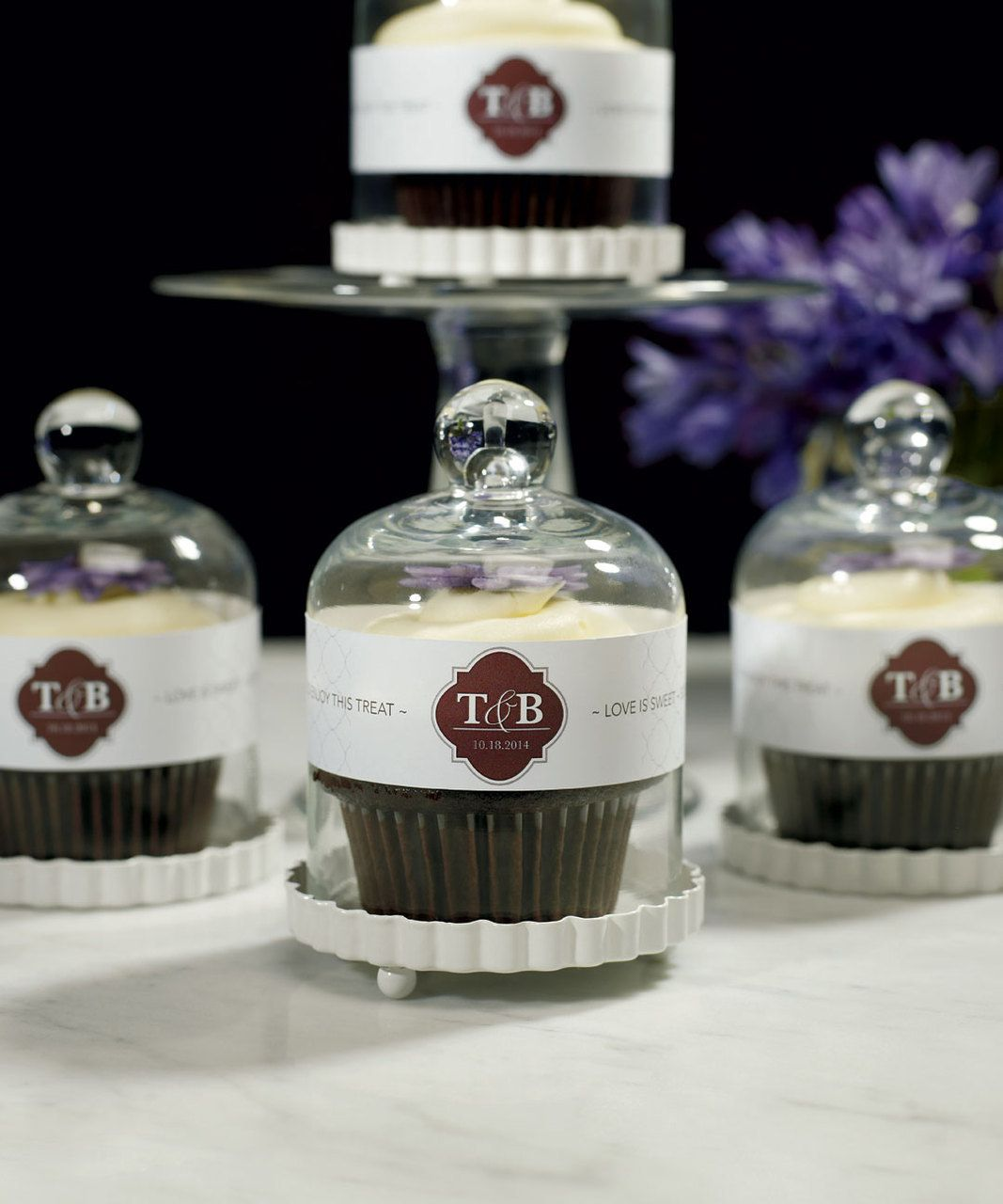The Event at Things Festive  - Miniature Glass Bell Jar - Cupcake Cloche, $18.73 (http://event.thingsfestive.com/miniature-glass-bell-jar-cupcake-cloche/)