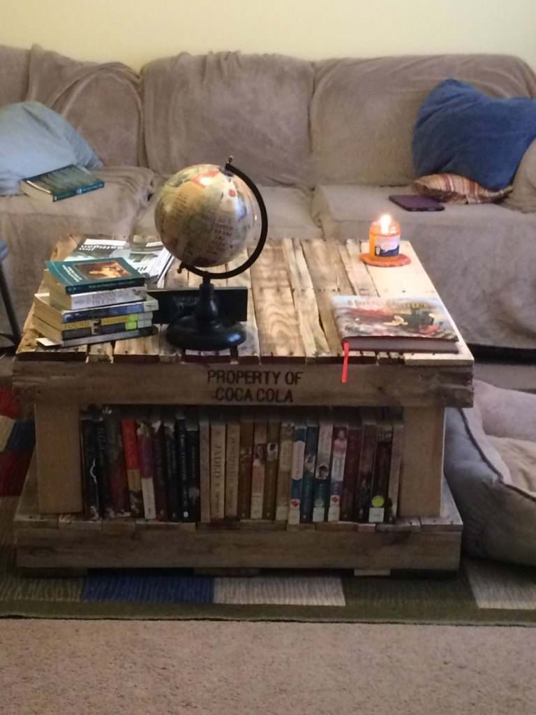 Pallet Coffee Table Bookshelves Coffee Table Bookshelf Coffee