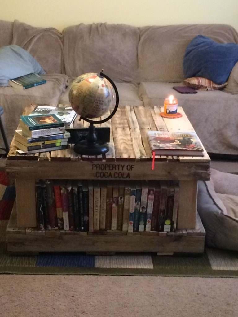Pallet Coffee Table Bookshelves Tables
