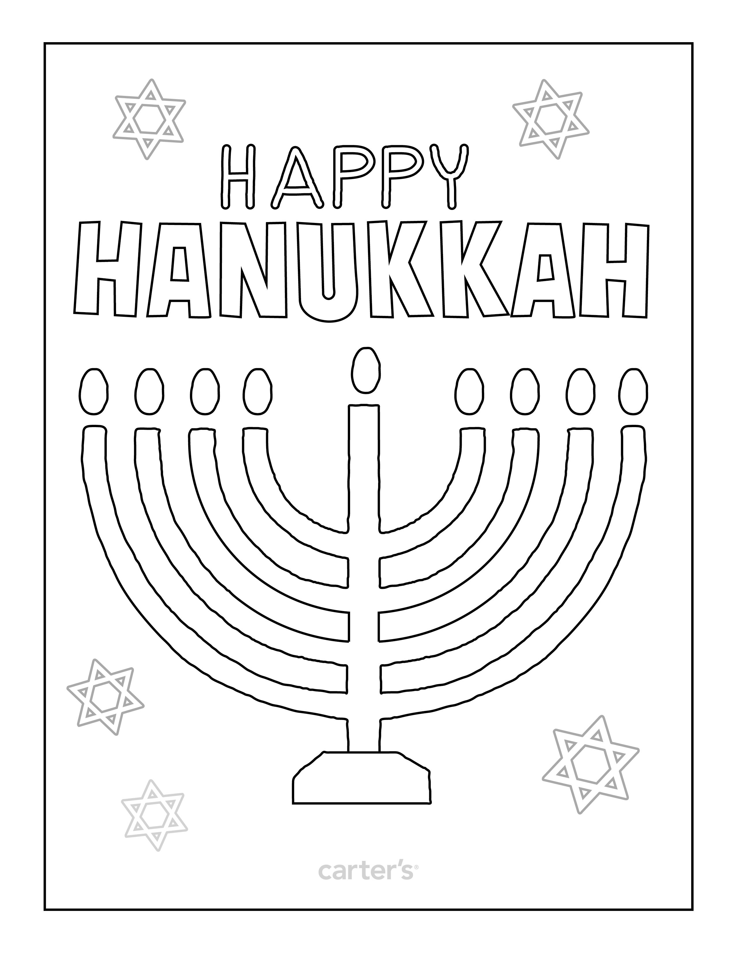 Coloringpage Hanukkah Preschool Hanukkah Hanukkah Activites