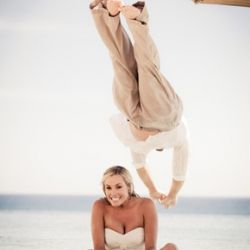 This fun loving couple did a trash the dress session in Cabo that included the beach, a pool, and even a tub!
