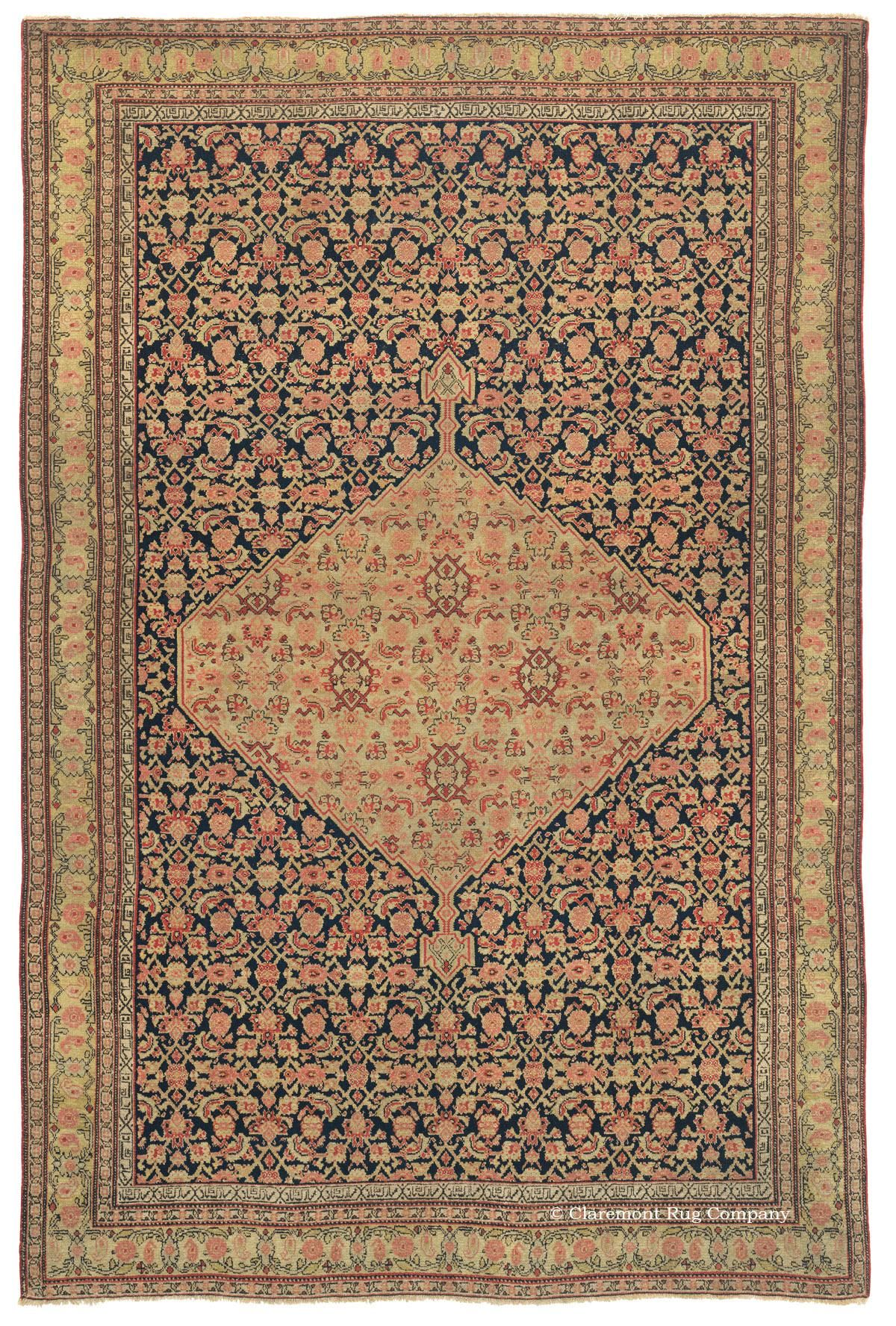 Senneh 4ft 2in X 6ft 5in Circa 1850 Exceptional In Every Way This Quintessentially Collectible Senneh Antique Per Rugs On Carpet Claremont Rug Company Rugs