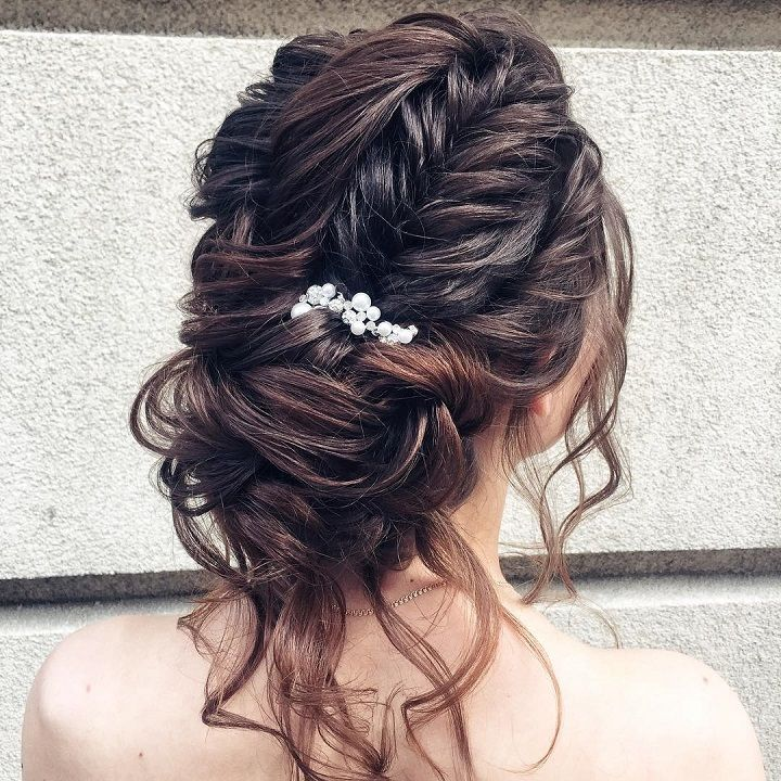 Braid + Messy updo wedding hairstyle inspiration may just