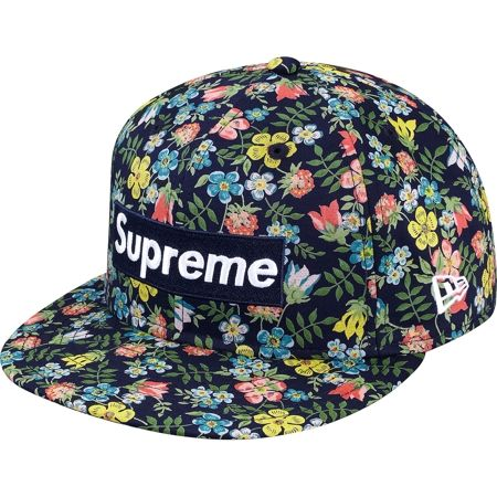 c2467958d57 ... good out x 576c3 baa73 Supreme x Liberty x New Era – Floral Box Logo  Fitted ...