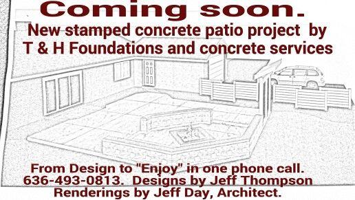 Stamped concrete designs.  Concrete contractors in St louis mo.  Pictures, Patio Ideas