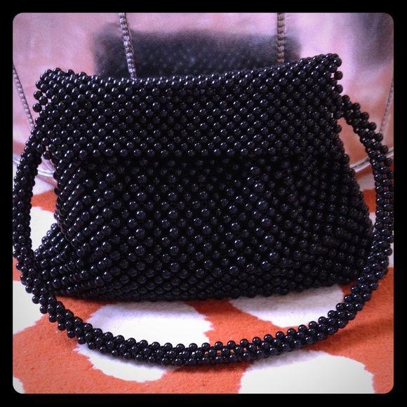 de078c02090 HoST PiCKArmani Beaded Bag-Uber Chic!! One-of-a-Kind black bead bag ...
