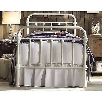 Antique White Iron Metal Bed Frame Twin Headboard Victorian French Furniture Iron Metal Bed Twin Bed Frame Iron Bed Frame