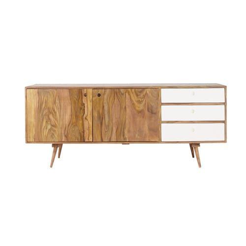 Buffet Enfilade 2 Portes 3 Tiroirs En Sheesham Deco Furniture Furniture Cool Furniture