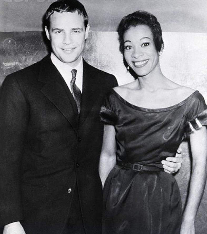 With singer Lou Elliot in the 1950s. Looking good you two!