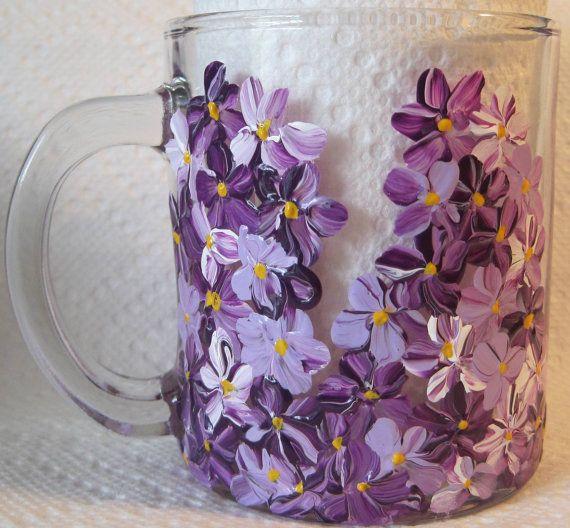 Hand Painted Mugs 2 Mugs Custom Coffee Mugs by RococoDecorativeArt, $22.00