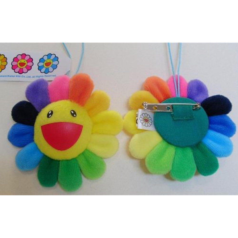 """Takashi Murakami Kaikai Kiki Happy Flower 3"""" Plush Strap"""