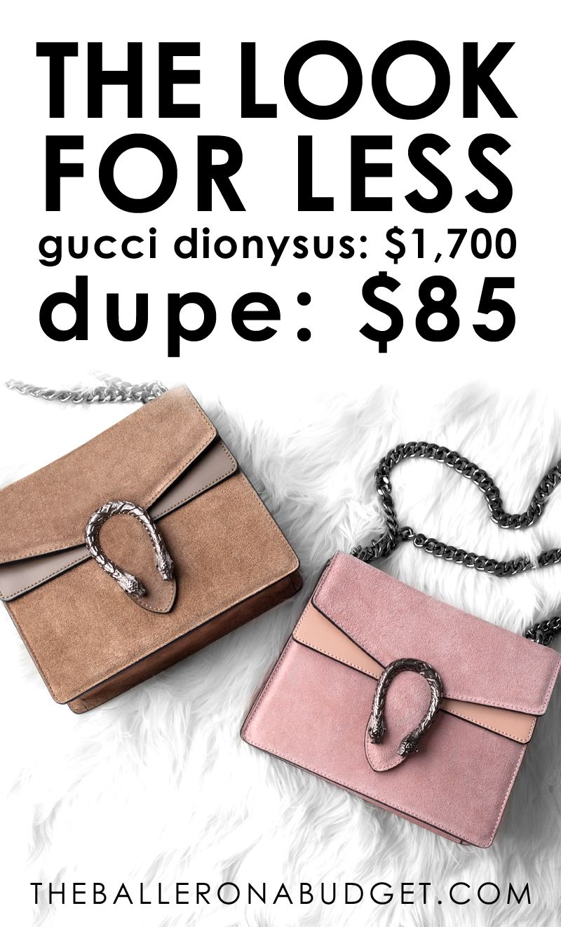 c6304d5fbc4e07 $1,700 Gucci Dionysus Mini vs. a $85 genuine Italian leather dupe: Read the  review and find out where to buy here! - www.theballeronabudget.com