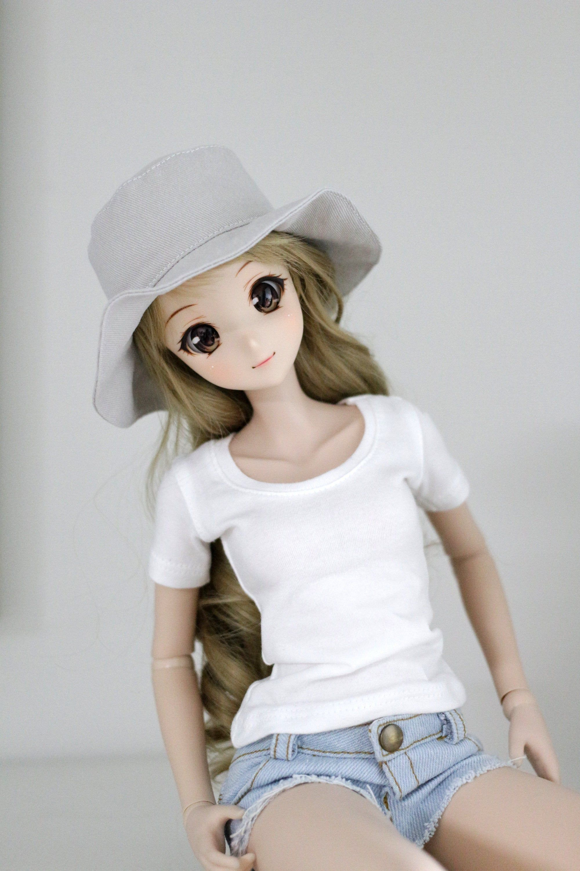 BJD doll clothes - SD Smart doll - Beige Bucket Hat