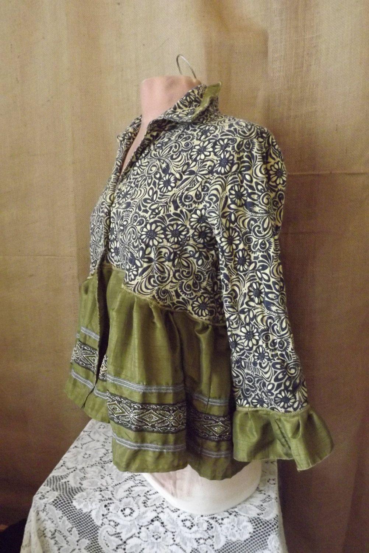 boho upcycled blouse jacket passage to india fashion refashion upcycled pinterest alte. Black Bedroom Furniture Sets. Home Design Ideas