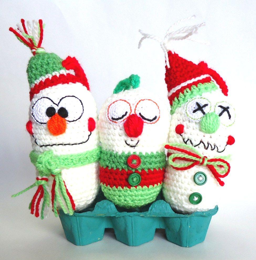 Adornos navide os amigurumi crochet crochet - Adornos navidenos crochet ...
