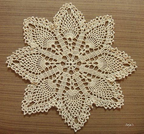 Ravelry Easy Pineapple Doily Pattern By Sylvia Landman Crochet