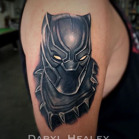 Image Result For Black Panther Marvel Tattoo Tatuagem Vingadores Tatuagem Desenho Dos Vingadores