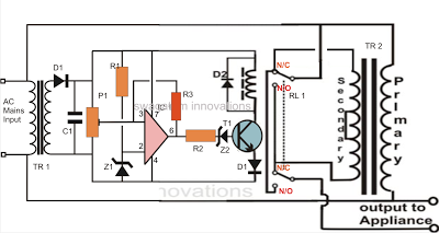 homemade circuit projects automatic voltage stabilizer circuit for rh pinterest com Electronic Projects Circuit Diagrams Electronic Integrated Circuits