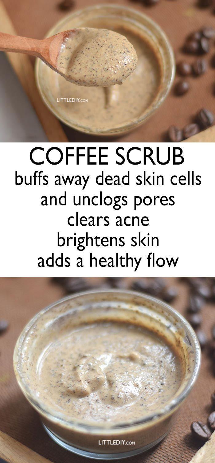 coffee scrub to clear acne #beauty