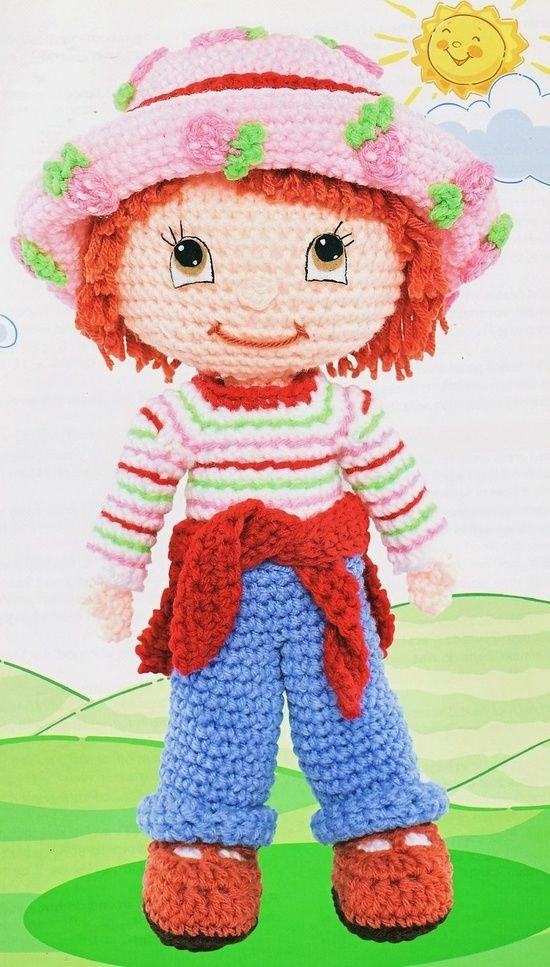 Crochet Strawberry Shortcake Doll Amigurumi Pinterest Crochet
