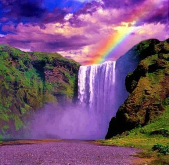 God S Creation So Beautiful Waterfall Rainbow Waterfall Nature