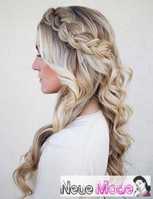 Halboffene Frisur Neue Halboffene Frisuren 2019 Abiball Frisuren Halboffen Brautfrisur Braided Hairstyles Wedding Hair Down Prom Hairstyles For Long Hair