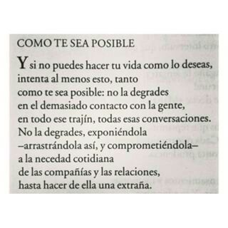 Como te sea posible!