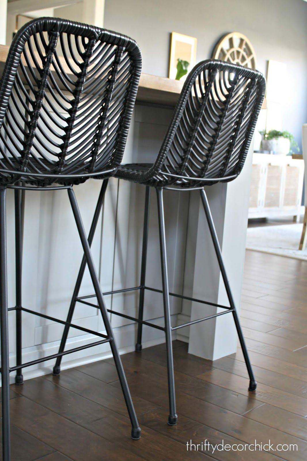 Pretty Kitchen Island Transformation For Less Than 100 Stools For Kitchen Island Black Bar Stools Kitchen Kitchen Bar Stools