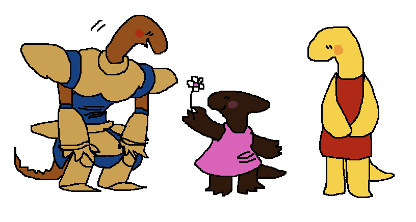 …all of my reptile characters look the same >_> - #Character #design #earthstar #mossworm #original #saffron #sammy