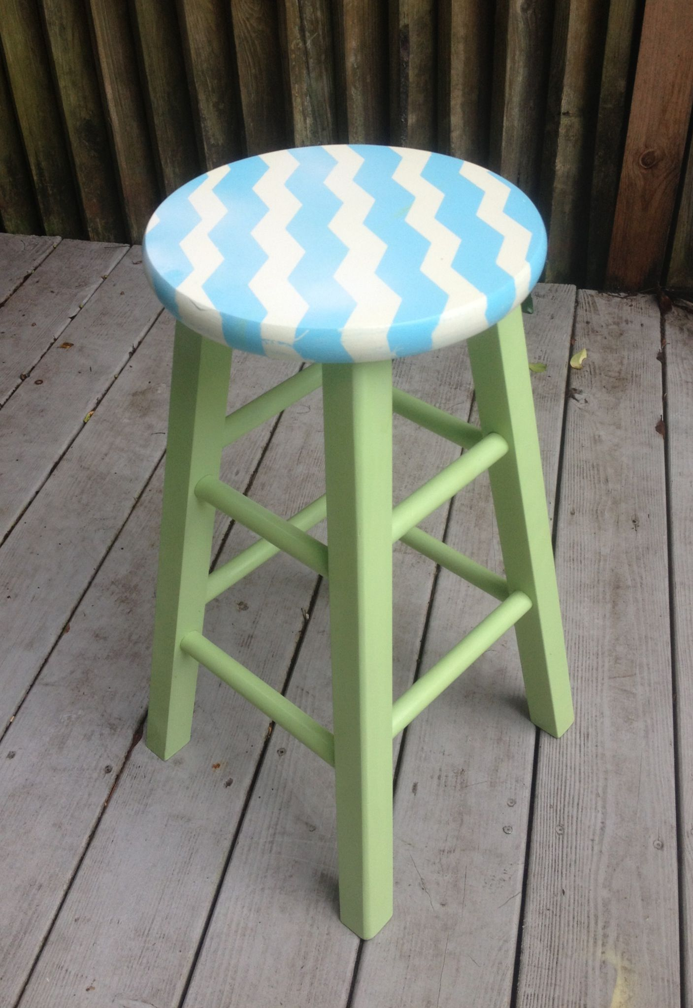 Painted Chevron Stool Using Frog Tape Shape Found At Crown Ace Hardware Www Crowance