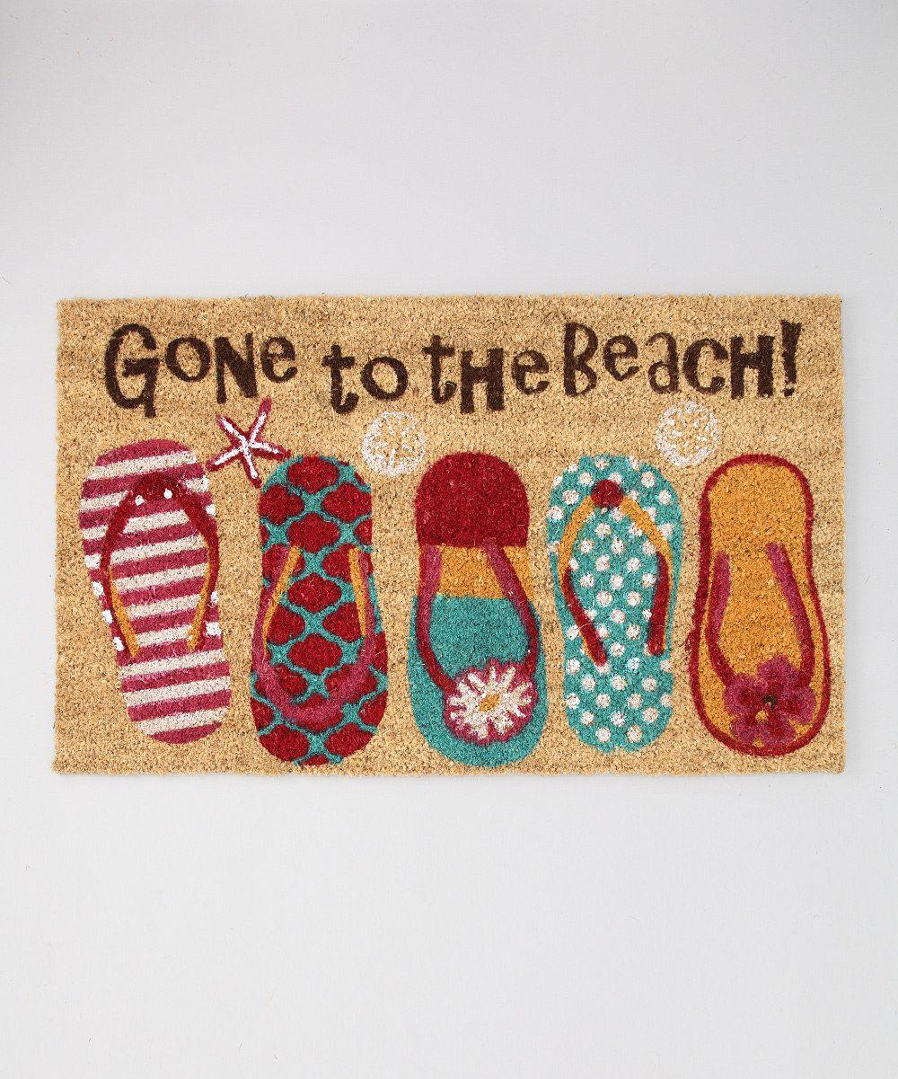 Beach Flip Flop Doormat Welcome Door Mats Beach Flip