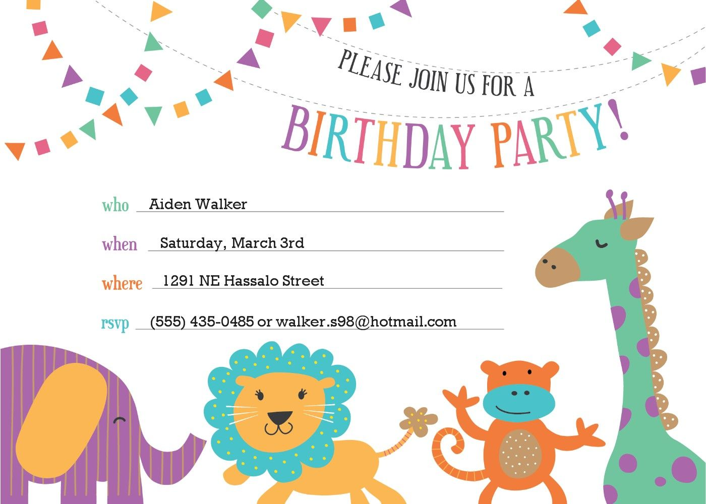 Inspiration Birthday Invitation Template Your Ideas Birthday ...