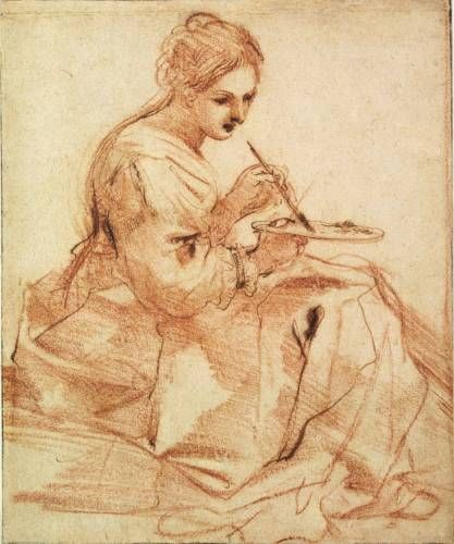 Guercino woman painting