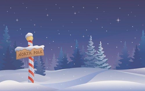 Cartoon Winter Nature Background Vector 02 Christmas Tree Wallpaper Christmas Illustration Winter Nature
