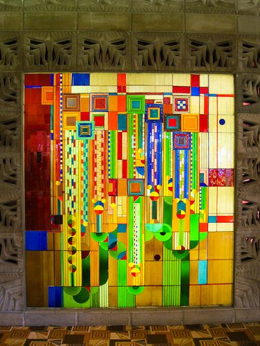 Wright Saguaro Glass Panel by rpslee, via Flickr.  Would love this as a quilt.