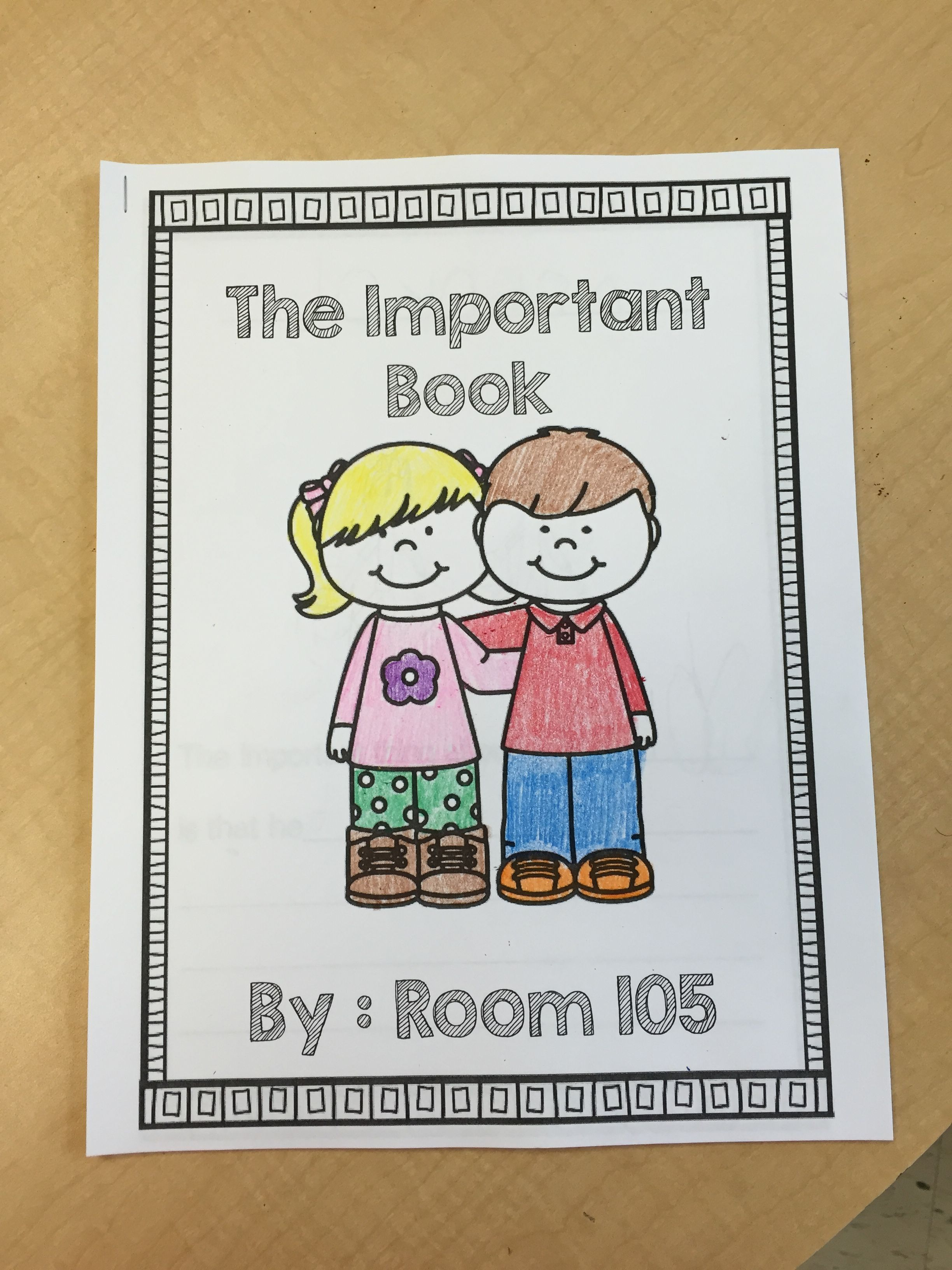 Freebie! Are you reading The Important Book in your class?  Create a class Important Book about the members of your class!