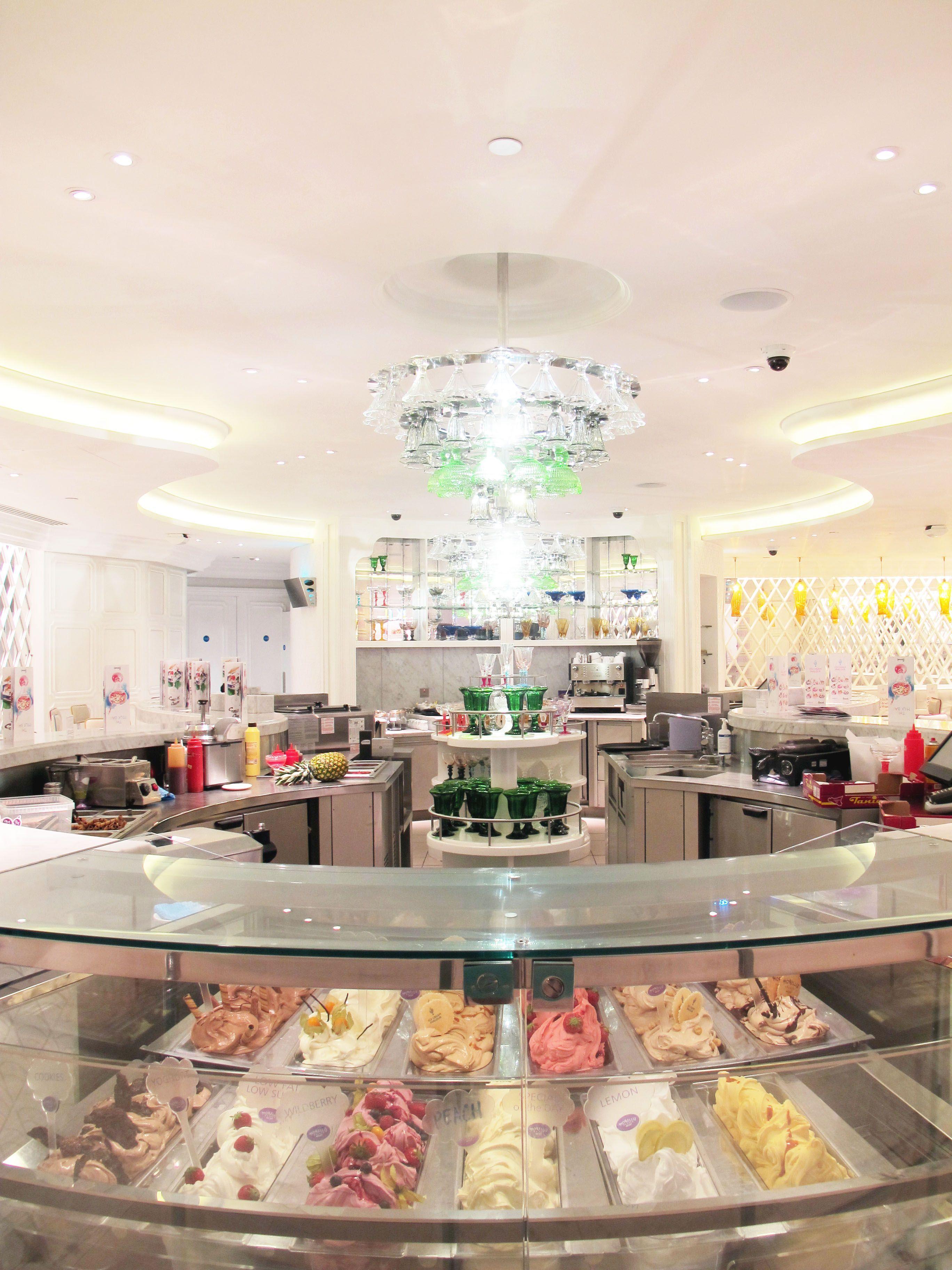 Ice Cream Parlour Serving Lemon Gelato And Other Amazing