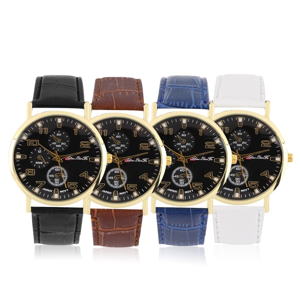business watch pp s fashion date with casual men leather watches