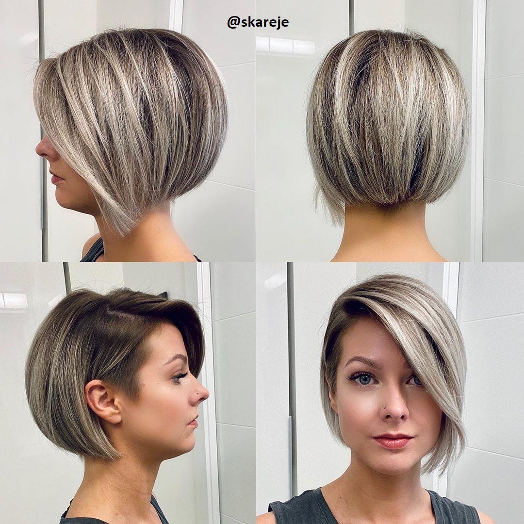 Modische Kurzhaarfrisuren In Verschiedenen Langen Kurzhaar Frisuren Frisuren Stil Haar Kurze Und Lange Frisuren In 2020 Frisuren Kurze Haare Stufen Haar Styling Modische Kurzhaarfrisuren