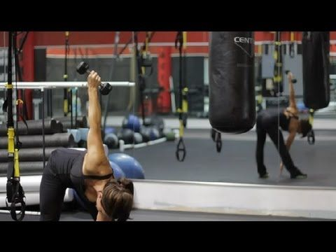 Dumbbell Exercises With a Windmill : Exercises Using Dumbbells #dumbbellexercises