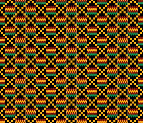 Colorful Fabrics Digitally Printed By Spoonflower 3 Inch Yellow Green Red On Black Kente Cloth In 2020 Kente Cloth Kente Fabric