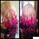 I love it.. blonde ,hot pink and purple plum